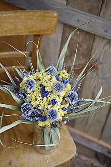 Dekorácie - Kytica sušených kvetov - 12401006_