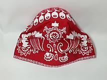 Rúška - Rúško antibakteriálne ,červené folklórne - 12405060_