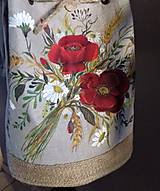 """Šaty - Ľanové maľované šaty """"Lúčna kytica II."""" (Ľanové maľované šaty """"Lúčna kytica s makmi III) - 12402292_"""