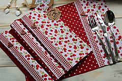 Úžitkový textil - Bodkované prestieranie-jahôdka - 12402157_