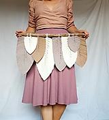 Dekorácie - Macramé Listy Dekorácia - hnedá - 12404282_