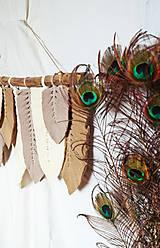 Dekorácie - Macramé Listy Dekorácia - hnedá - 12404293_