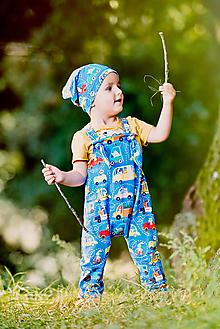 Detské oblečenie - trakáčiky autá - 12400384_