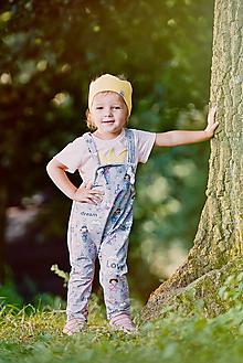 Detské oblečenie - trakáčiky princezná 68 - 12400389_