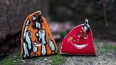 Svietidlá a sviečky - tekvica svietnik červená a oranžová - 12401863_