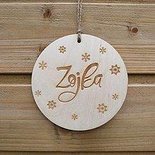 Dekorácie - Vianočná dekorácia s menom - 12400504_