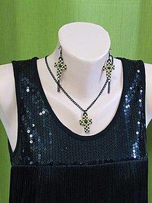 Sady šperkov - Čierno - zlatá súprava - 12405106_