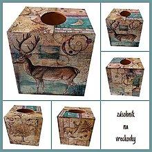 Krabičky - ZÁSOBNÍK NA VRECKOVKY kocka (DIVÉ ZVERI) - 12407755_