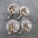 Šperky - Manžetové Gombíky-Okrúhle-STEAMPUNK- 2 Páry - 12409480_