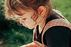 Detské doplnky - Detské zlaté náušnice s ametystom - MALÁláska - 12406293_