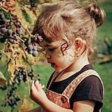 Detské doplnky - Detské zlaté náušnice s ametystom - MALÁláska - 12406295_