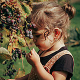 Detské doplnky - Detské zlaté náušnice s ametystom - MALÁláska - 12406296_