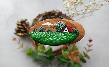 Magnetky - Malovana magnetka drevena - 12406100_