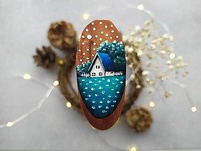 Magnetky - Malovana magnetka drevena - 12408285_