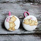 Detské doplnky - Gumičky do vlasov Medvedíci v ružovom - 12406681_