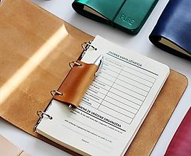 Papiernictvo - Kožené doplnky k zápisníkom A5 - 12408544_
