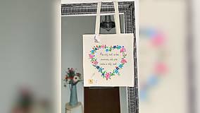Nákupné tašky - ♥ Plátená, ručne maľovaná taška ♥ - 12405643_