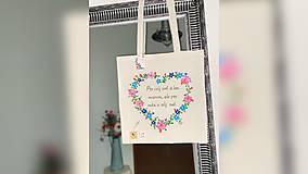 Nákupné tašky - ♥ Plátená, ručne maľovaná taška ♥ - 12405644_