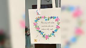 Nákupné tašky - ♥ Plátená, ručne maľovaná taška ♥ - 12405645_