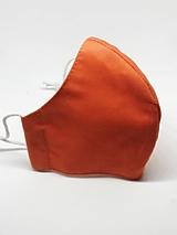 Rúška - Oranžové bavlnené rúško na tvár - všetky veľkosti (Dámske) - 12409729_