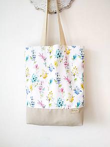 Nákupné tašky - Taška akvarelové kvietky - 12406513_