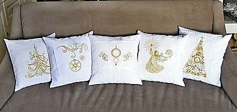 Úžitkový textil - vianoce-vankúš -stromček-zľava na !!! 9,99€!!! - 12407252_