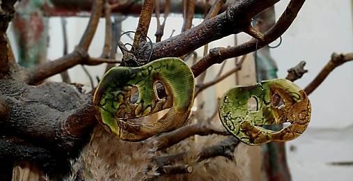 tekvica závesná dekorácia zelená