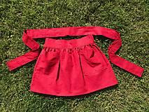 Sukne - Veselá - celoročná ľanová mini sukňa - 12406357_