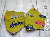 Rúška - Bavlnené rúška... detské ( 5-10 rokov) rôzne vzory - 12411324_