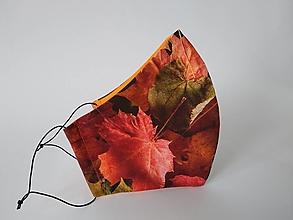 Rúška - Dizajnové rúško jeseň tvarované dvojvrstvové - 12410623_