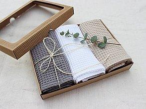 Úžitkový textil - Darčekový set utierok vafle Stone - 12410048_