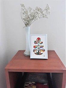 Obrazy - Kvet 2, maľba, tempera, 10,7x15,7 cm - 12411291_