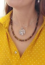 Náhrdelníky - Unisex náhrdelník z tigrieho oka. - 12413758_