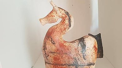 Socha - Keramika, Koník Horse hair - 12411395_