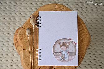 Papiernictvo - Zápisník pre bábätko / dievčatko - 12413290_