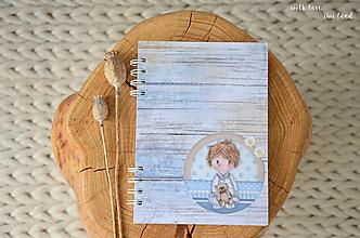 Papiernictvo - Zápisník pre bábätko / chlapčeka - 12413302_