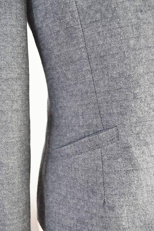 Komplet z flanelovej bavlny – vestové šaty + sako s golierikom