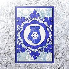 Papiernictvo - Vianočná pohľadnica vločka - 12411134_