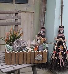 Dekorácie - Jesenná dekorácia s ježkom - 12416862_