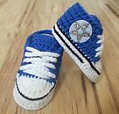 Topánočky - Tmavomodré tenisky s hviezdičkou - 12418044_