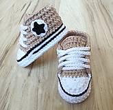 Topánočky - Hnedá tenisky s hviezdičkou - 12418074_