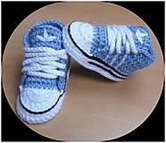 Topánočky - Bledomodré tenisky - 12418106_