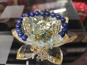 Náramky - Náramok z lapisu lazuli a lotosového kvetu. - 12413797_