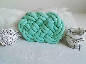 Úžitkový textil - CLOUD vankúšik (Mentolový) - 12417239_