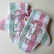 Úžitkový textil - ANDĚLSKÉ - chňapky - 12417431_