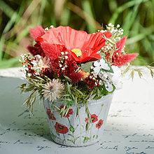 Dekorácie - Ikebana s vlčím makom - 12415765_