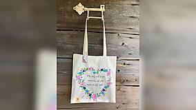 Nákupné tašky - ♥ Plátená, ručne maľovaná taška ♥ - 12413930_