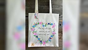 Nákupné tašky - ♥ Plátená, ručne maľovaná taška ♥ - 12413932_