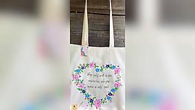 Nákupné tašky - ♥ Plátená, ručne maľovaná taška ♥ - 12413946_