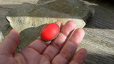 Prstene - Veľký prsteň červený, č. 3287 - 12415919_